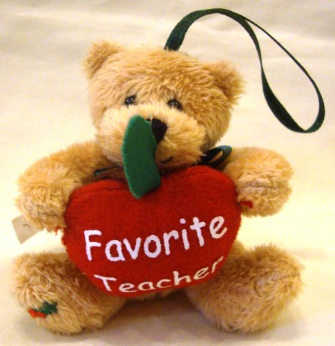 Favorite Teacher Teddy Bear Christmas Ornament