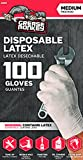 Big Time Products Grease Monkey Disposable Latex Gloves (Medium) - Pack of 100