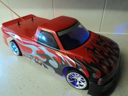 American Monster Pickup Chevrolet Truck Style Radio Remote Control Car Rechargeable 1/10 Scale 20 MPH
