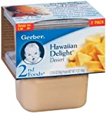 Gerber 2nd Foods Baby Foods Sitter Hawaiian Delight Spoonable Smoothies 2 - 3.5 Oz Packs - 8 Pack