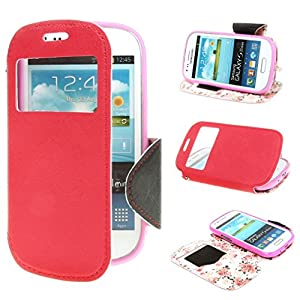 Stand Case Cover for Samsung Galaxy S3 III Mini i8190 Red: Electronics