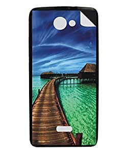 Techno Gadgets Back Cover sticker for Xolo Q1000