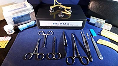 Suturing Training Kit - NEXUS PRO Edition (Gunmetal Grey) - Sigma Lance's Tendon / Vessel Anastomosis Suture kit