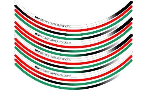 Emudiefu (MDF) rim stripe Tricolore / Trico lettering There 6mm 12 inch corresponding RIM-6M-T2-12