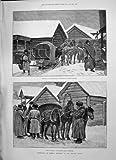 1891 のシベリアの郵便局の馬の Yeniseisk の肖像画 Caran D'Ache
