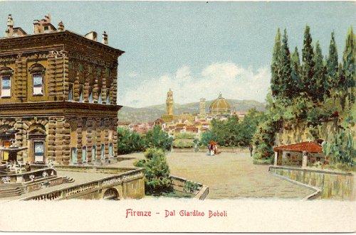 1910 Vintage Postcard Boboli Gardens Florence