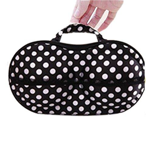 Meily(TM) Polka Dot Protect Bra Underwear Lingerie Case Travel Bag