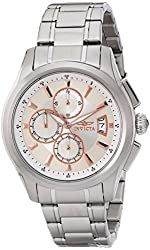 Invicta Men's 1481 Specialty Collection Chronograph Silver Dial Stainless Steel Watch