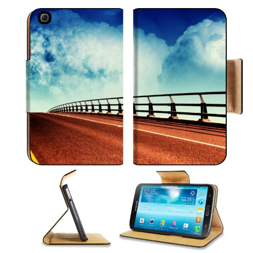 Flyover Blue Sky White Clouds Art Samsung Galaxy Tab 3 8.0 Flip Case Stand Magnetic Cover Open Ports Customized Made To Order Support Ready Premium Deluxe Pu Leather 8 7/16 Inch (215Mm) X 5 6/8 Inch (145Mm) X 11/16 Inch (17Mm) Liil Galaxy Tab3 Cases Tab_8 front-167906