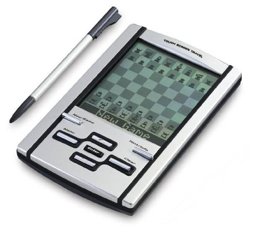 Mephisto Touch Screen Travel Chess Computer with leather case, by Saitek