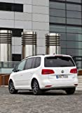 Volkswagen Touran Car Art Poster Print on 10 mil Archival Satin Paper White Rear View 36