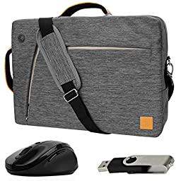VanGoddy Gray Slate 3-in-1 Hybrid Laptop Bag for RCA Cambio / Pro10 Edition II / 11 Maven Pro / 10 Viking Pro / 11\