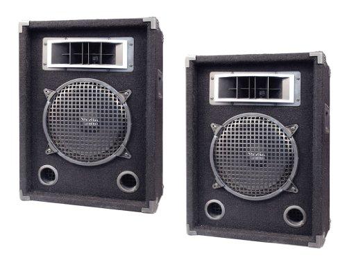 Pyramid Great Speaker Package For Djs/Office/Schools/Public -- Pair Of Pmbh1039 250W 2-Way 10'' Speaker Cabinet.