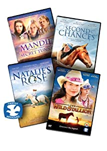 Girls Movie Night In 4 Dvd Collection 4 Girl Christian Dvd Movies Includes Mandie And The Secret Tunnel Natalies Rose Second Chances And The Wild Stallion Dvbox10