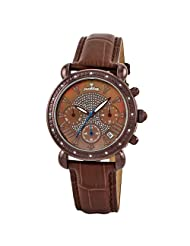 "JBW-Just Bling Women's JB-6210L-L ""Victory"" Leather Diamond Chronograph Watch"