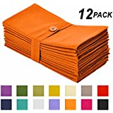Cotton Craft Napkins, 12 Pack Oversized Dinner Napkins 20x20 Saffron, 100% Cotton, Tailored with Mitered corners and a generous hem, Napkins are 38% larger than standard size napkins