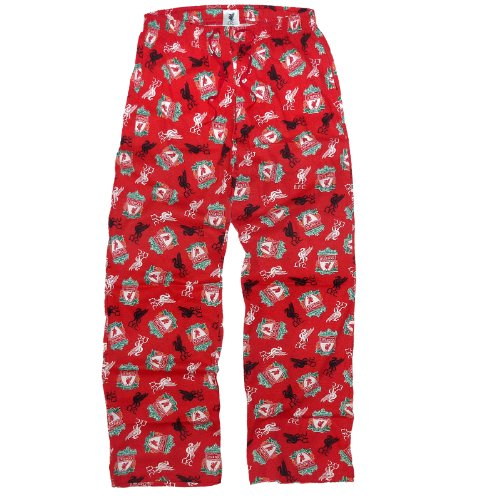 Liverpool Football Club Soccer Gift Mens Lounge Pants Pajama Bottoms Red Large
