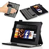 Poetic HardBack Protective Case for Amazon Kindle Fire HD 7″ Tablet Black (Automatically Wakes and Puts the Amazon Kindle Fire HD 7″ Tablet to Sleep)(Intergrated HandStrap)(Has Open Slot for Charger Port)(3 Year Manufacturer Warranty From Poetic)