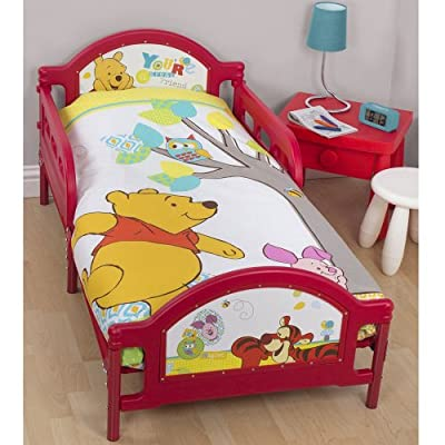 Disney Winnie the Pooh Forest Junior Pannel Duvet Set Fits Toddler Junior & Cot Bed Duvet Cover and Pillow Case