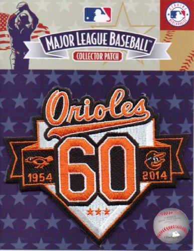 2014 NEW BALTIMORE ORIOLES 60TH ANNIVERSARY 1954 MLB JERSEY SLEEVE PATCH MLB at Amazon.com