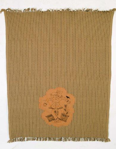 "Scarecrow Stencil Applique 50"" X 60"" Halloween Harvest Woven Throw Quilt front-316598"