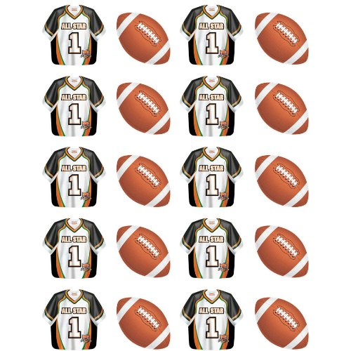 Team Sports - Football Sticke (4 per package) - 1