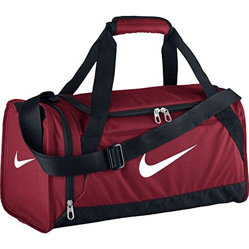 Nike Brasilia 6 Duffel Bag Gym Red/Black/White Size X-Small