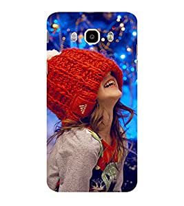 ifasho Little girl laughing Back Case Cover for Samsung Galaxy On8