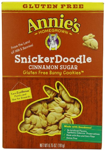Annie's Homegrown Snickerdoodle Bunny Cookies (Gluten-Free), 6.75 Ounce