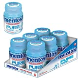 Mentos pure fresh breath Sugar free Chewing Gum Spearmint with Green Tea 6 Pack of each 56gm
