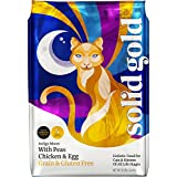 Solid Gold Indigo Moon Chicken Holistic Dry Cat Food, Chicken & Egg, Grain & Gluten Free, Cats & Kittens of All Life Stages, All Sizes, 4lb Bag