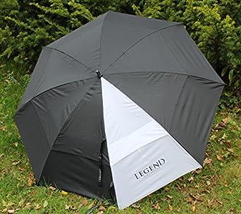 Legend Golf Gear Riesen Sturm Regenschirm Pure white / black (1,3 m Spannweite)