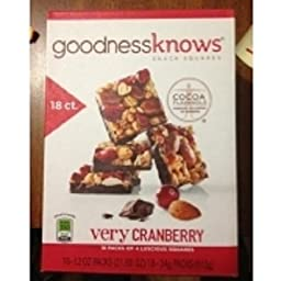 Goodness Knows Snack Squares 18 Packs