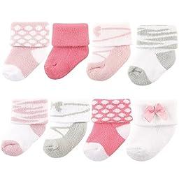Luvable Friends 8 Pack Newborn Socks