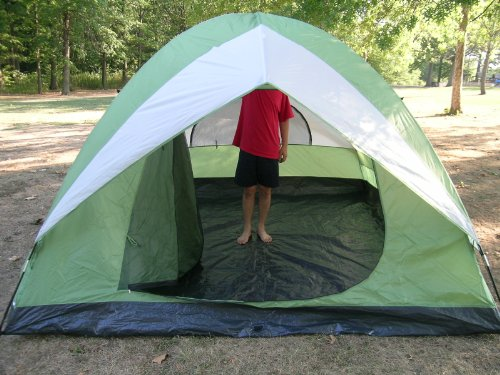 Leberna 10 Foot X 10 Foot Four to Five Person C&ing Dome Tent. Coleman ... & gangku