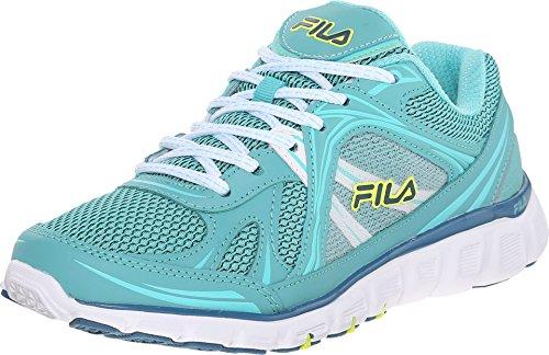 Fila Women's Memory Retribution-W Running Shoe, Lagoon/Cockatoo/Safety Yellow, 7.5 M US