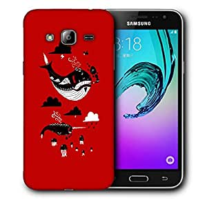 Snoogg Black Whale Designer Protective Back Case Cover For SAMSUNG GALAXY J3/J3 2016 J310
