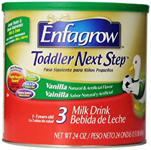 Enfagrow Toddler Next Step  Vanilla, for Toddlers 1 Year and Up, 24 Ounce (Pack of 3)