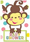 Fisher Price Invitations Party Invites 8 Baby Shower Monkey