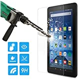 "MoKo Fire 7"" Screen Protector, [Scratch Terminator] Premium HD Clear 9H Hardness Tempered Glass Film with Oleophobic Coating for Amazon Kindle Fire 7 inch Tablet (5th Generation - 2015 Release)"