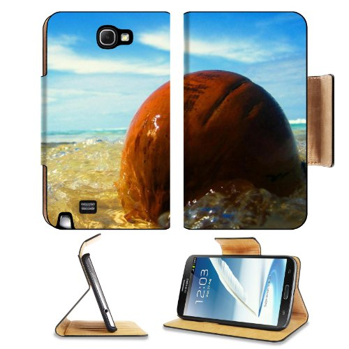 Ocean Waves Washing Over Stone Samsung Galaxy Note 2 N7100 Flip Case Stand Magnetic Cover Open Ports Customized Made To Order Support Ready Premium Deluxe Pu Leather 6 1/16 Inch (154Mm) X 3 5/16 Inch (84Mm) X 9/16 Inch (14Mm) Msd Note 2 Cover Professional