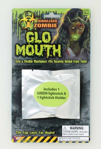 Biohazard Mouth Glow Light Stick Accessory Size One-size