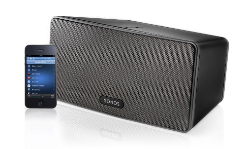 Sonos Play:3 All-In-One Wireless Music Player With 3 Integrated Speakers (Black, NEW)