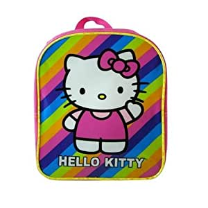 Sanrio Hello Kitty Pink Mini Backpack: Stripes