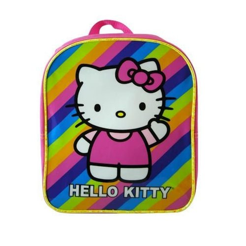 Sanrio Hello Kitty Pink Mini Backpack: Stripes - 1