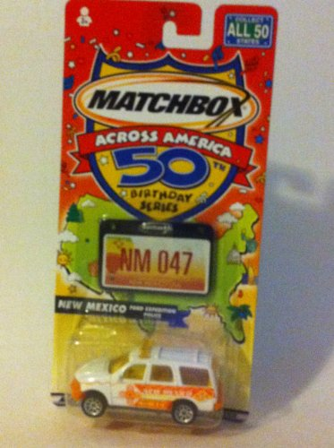 Matchbox Across America 50th Birthday Series New Mexico Ford Expedition Police - 1