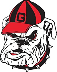 Georgia Bulldogs UGA NCAA 12 inch Vinyl Magnet Set Of 2