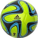 adidas Performance Brazuca Glider Soccer Ball, Solar Slime/Black, 5 Size