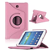 Bocideal New Case For Samsung Galaxy Tab4 7Inch Tablet, T230 Rotating 360 Case Cover (ï¼Pinkï¼)