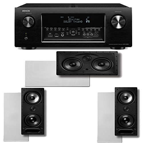 Denon Avr-X4000 7.2 Channel 4K Ultra Hd Networking Home Theater Receiver Plus A Polk Audio Vanishing Series In-Wall Speaker Package (265-Ls & 255C-Ls)